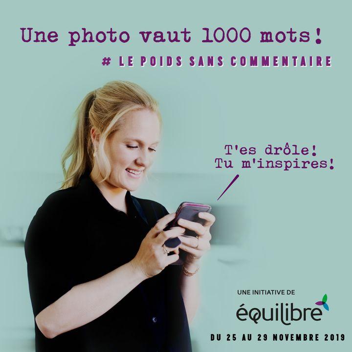 Marie-Soleil Dion est porte-parole de l'organisme ÉquiLibre, qui est derrière la semaine «Le poids? Sans commentaire!».