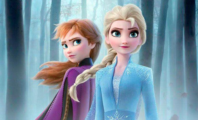 Elsa y Anna, en el póster de 'Frozen 2'.