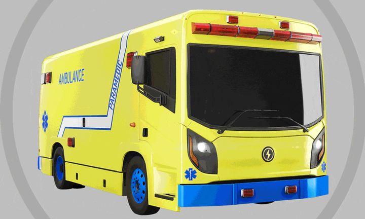 Ambulance électrique de La Compagnie Électrique Lion