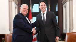 'What A Pleasure': Trudeau, Ford Put Campaign Behind Them With 1st