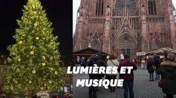 Strasbourg inaugure son marché de Noël et illumine son sapin en
