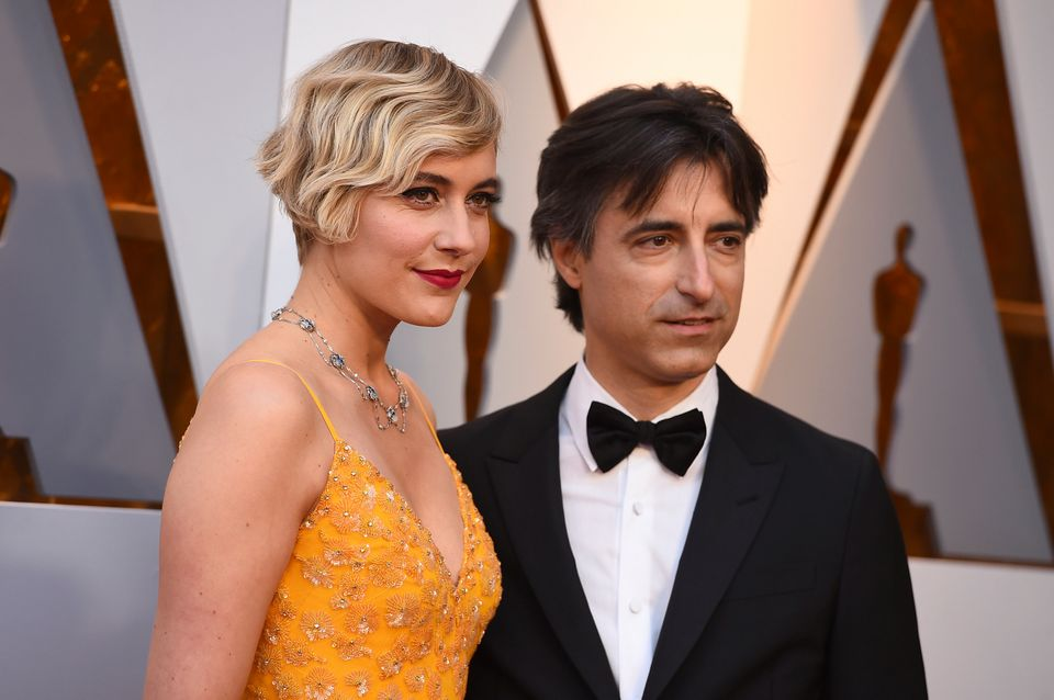 Greta Gerwig and Noah Baumbach at the Oscars on March 4,
