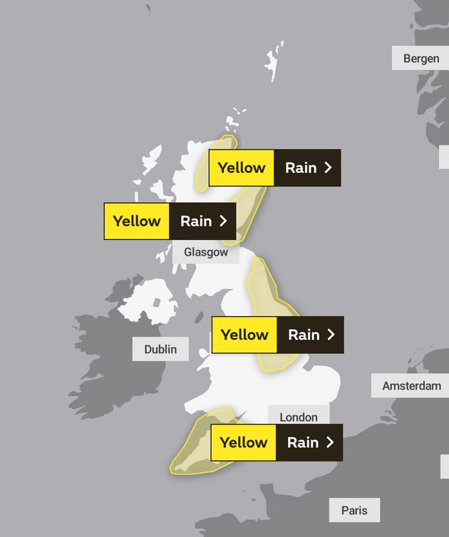 Weather warnings in place on
