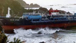 El buque quimiquero 'Blue Star' encalla en Ares (A