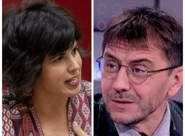 Teresa Rodríguez y Juan Carlos