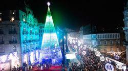 Vigo estrena iluminación navideña y todo el mundo se cachondea de este