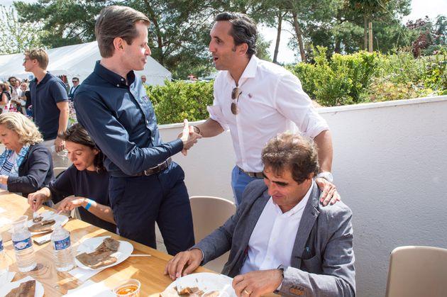 Julien Aubert, Guillaume Larrivé et Christian Jacob lors de l'université d'été...