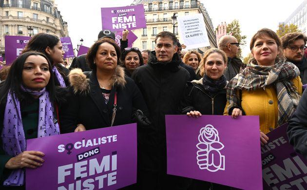 Le premier secrétaire du PS Olivier Faure ce samedi 23 novembre à