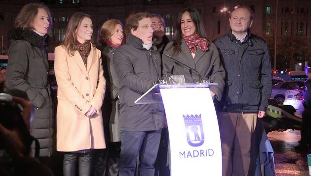 José Luis Martínez-Almeida en la cuenta atrás para encender las luces de Navidad de