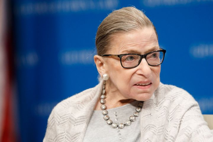 Supreme Court Justice Ruth Bader Ginsburg delivers remarks at the Georgetown Law Center on Sept. 12, 2019.
