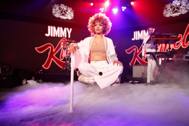 Starley performing on US show, Jimmy Kimmel Live in 2017 following the success of smash hit, Call On