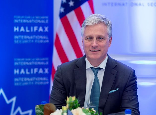 U.S. National Security Advisor Robert O'Brien attends the Halifax International Security Forum in Halifax on Nov. 23, 2019.