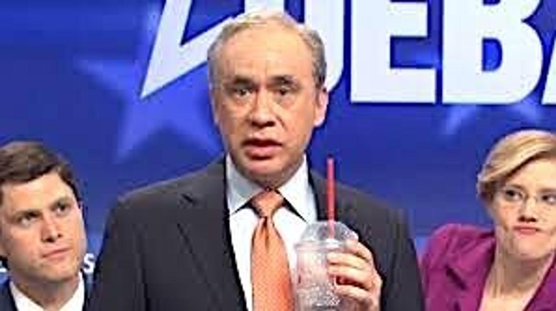 Westlake Legal Group 5dda27bf2500004f19d2e048 Fred Armisen's Bloomberg Tips Doorman $30 Million To Crash Hilarious 'SNL' Dem Debate