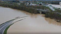Esonda il fiume Bormida: il drone sullo svincolo della A26 sommerso