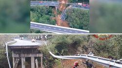 Crolla tratto viadotto sulla