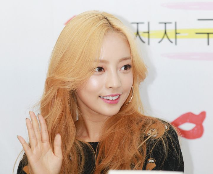 Singer and actor Goo Hara, seen here in 2015, was found dead at her home in Seoul, South Korea, on Sunday.