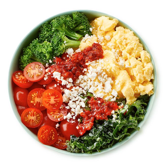 The Freshii green eggs & kale breakfast bowl.