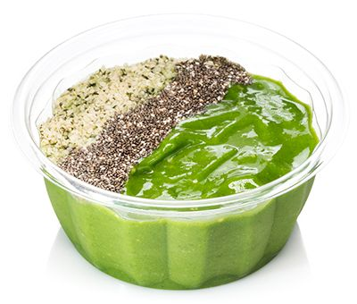 The Booster Juice Sweet Greens bowl.