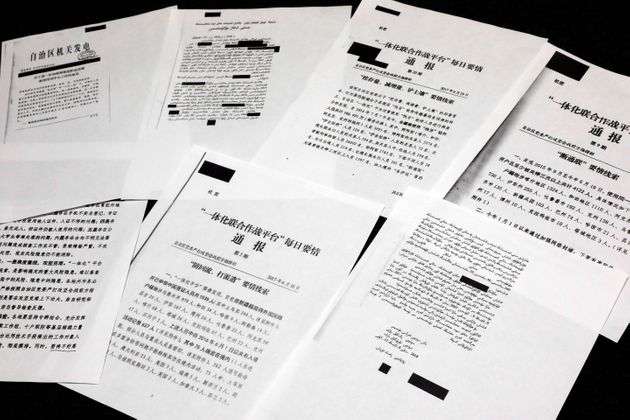 A sample of classified Chinese government documents leaked to a consortium of news organizations, is...