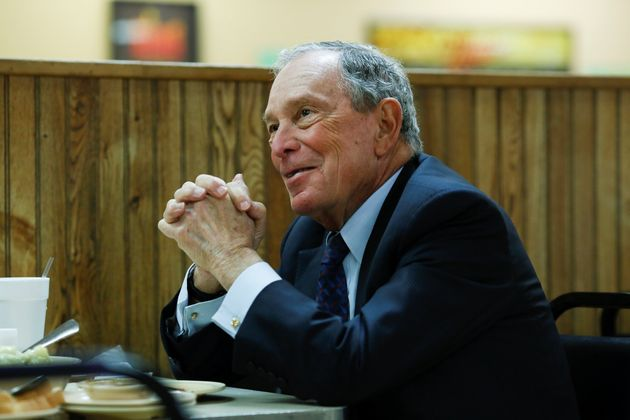 Michael Bloomberg, the billionaire media mogul and former New York City mayor, eats lunch with Little...