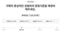 구하라 사망 후 '성범죄 처벌 강화' 청원이 20만을
