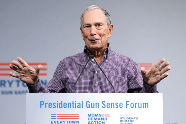Former New York City Mayor Michael R. Bloomberg speaks during the Presidential Gun Sense Forum in Des...