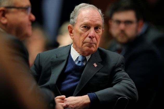 Former New York City Mayor and possible 2020 Democratic presidential candidate Michael Bloomberg listens...