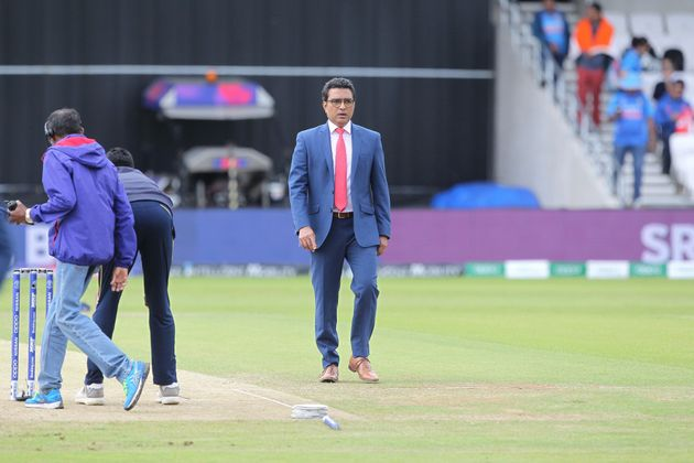 Former India cricketer and now commentator Sanjay Manjrekar during the ICC Cricket World Cup 2019 match...