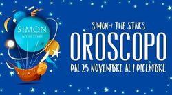 Oroscopo di Simon and The Stars: la settimana dal 25 novembre al 1