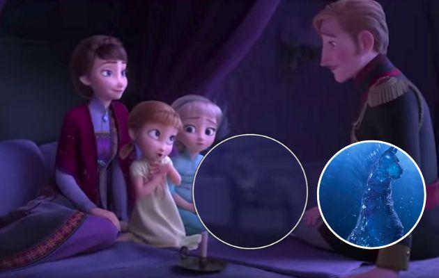 Premonición del caballo Nokk, en 'Frozen 2'.