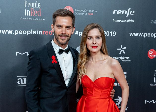 Marc Clotet y Natalia Sánchez, en la gala People in Red el 18 d enoviembre de