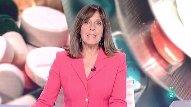 Ana Blanco, presentadora del telediario de La