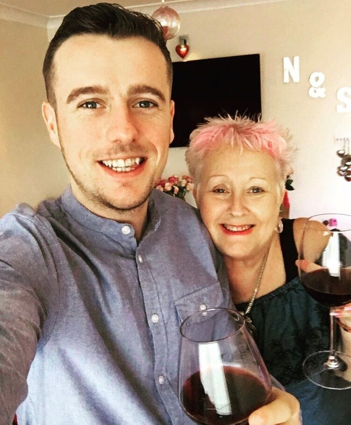 The author, alongside his mum Nand