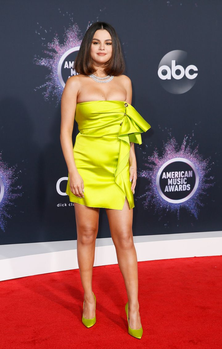 Selena Gomez walks the red carpet at the 2019 American Music Awards in Los Angeles on Nov. 24.