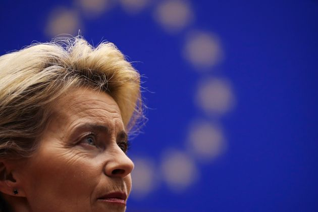 Incoming European Commission President Ursula von der Leyen talks to European Commission Vice-President...