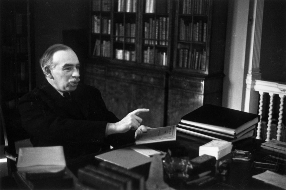 English economist John Maynard Keynes at his desk on March 16, 1940.