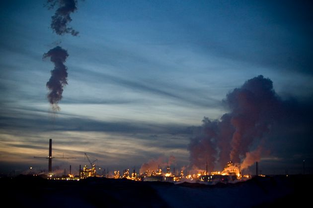 The Syncrude Canada oil refinery shown here in Fort McMurray, Alta., November