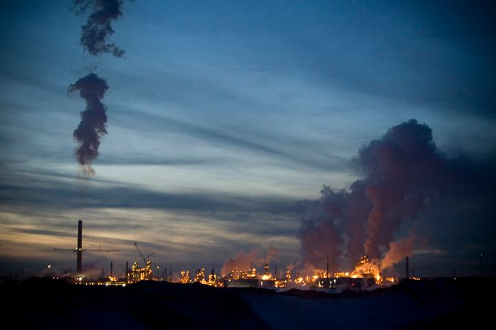The Syncrude Canada oil refinery shown here in Fort McMurray, Alta., November 2008.