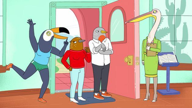 Cena da série de animação