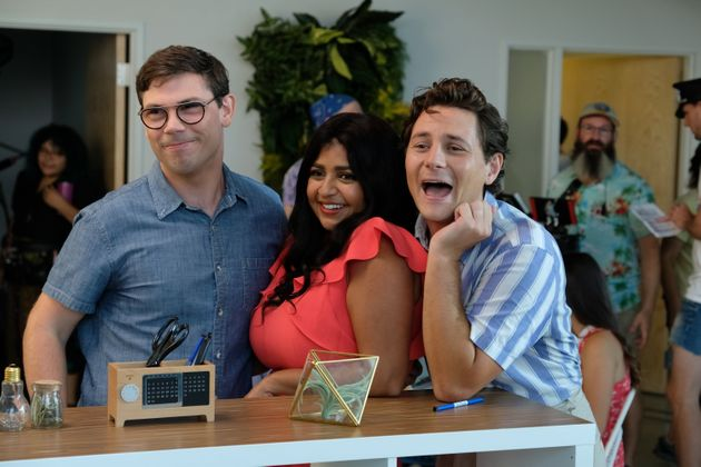 Ryan O'Connell, Punam Patel and Augustus Prew in
