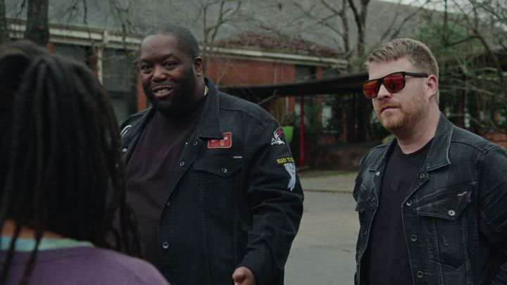 "Killer Mike and El-P in ""Trigger Warning."""