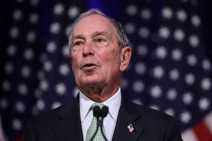 Former New York Mayor Michael Bloomberg speaks in Norfolk, Virginia, on Monday. Bloomberg, once a Republican-turned-independe