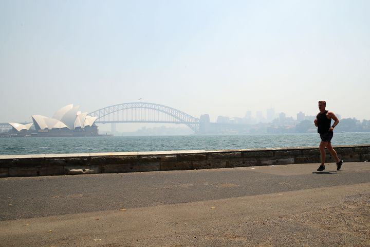 The smoke covering Sydney's Opera House and Harbour Bridge this bushfire season.