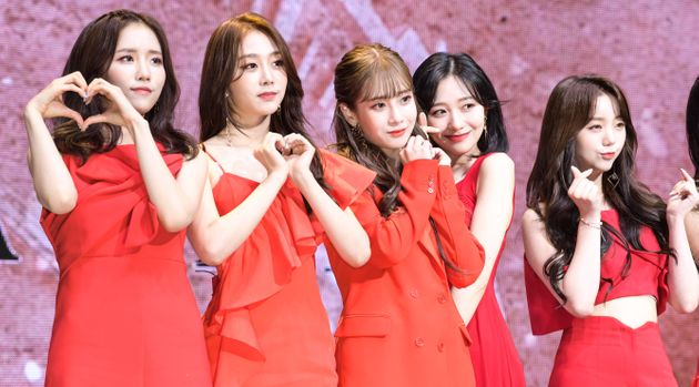 SEOUL, SOUTH KOREA - MAY 20 : Lovelyz attends the showcase for the new album 'Once Upon A Time'...
