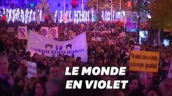 Des femmes du monde entier marchent pour l'élimination de la violence à leur