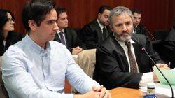 Rodrigo Lanza, condenado a cinco años de prisión por el denominado 'crimen de los