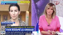 El encontronazo entre Susanna Griso y Rocío Monasterio al hablar de la violencia