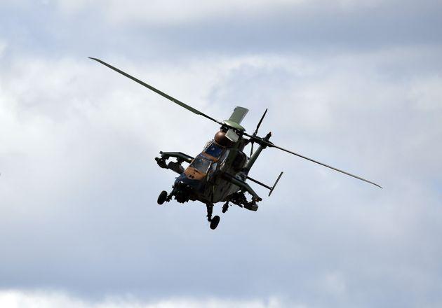 Démonstration d'un hélicoptère Tigre au Salon du Bourget au mois de