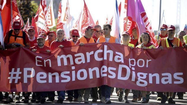 Una marcha sindical de pensionistas en Benavente