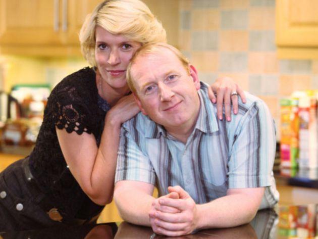 Julia Davis and Adrian Scarborough as Dawn and